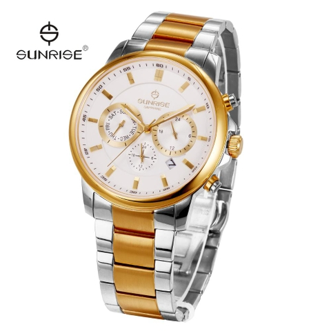 Sunrise Swiss DM757SWA - Nam - Sapphire - 42mm - Quartz (Pin) - Dây kim loại