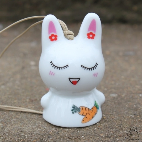 Wind chimes pink rabbit