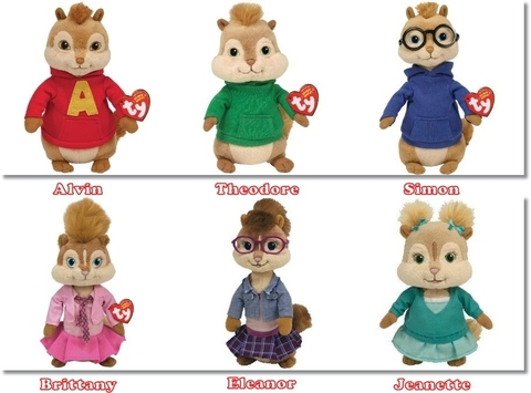Sóc chuột Alvin and the Chipmunk (1set/6 bé)