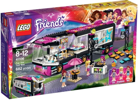41106 LEGO® Friends Pop Star Tour Bus (năm 2015)