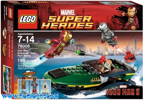 76006 LEGO® Super Heroes Iron Man Extremis Sea Port Battle