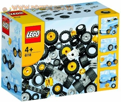 6118 LEGO® Wheels and Tyres: Bánh xe/ lốp xe.