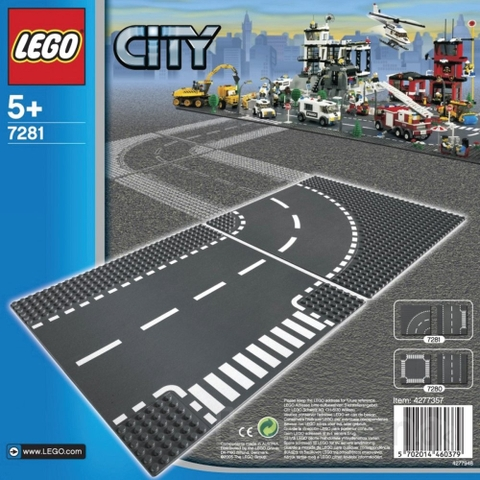 7281 LEGO® T-Junction & Curved Road Plates