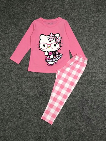 Bộ cotton Kitty 4-10y G8.102