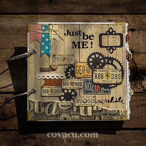 Scrapbook handmade JUST BE ME