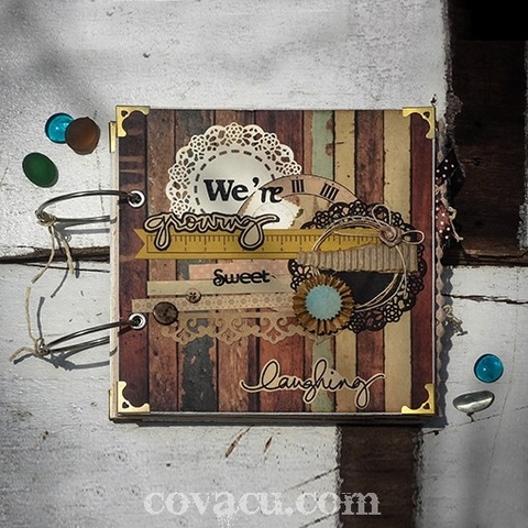 Quà handmade cho bé, cho tuổi trẻ - scrapbook We're Growing - Sweet Laughing