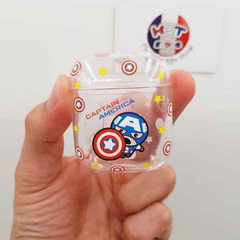 Case Trong Suốt Siêu Anh Hùng Marvel Avengers cho Airpods 1 / 2