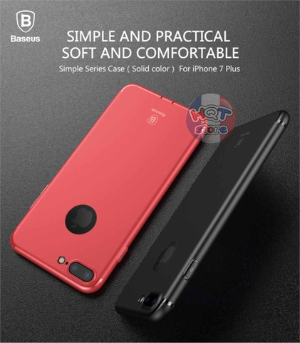 Ốp lưng dẻo TPU siêu mỏng Baseus Simple Series Solid Color cho Iphone 7/7 Plus