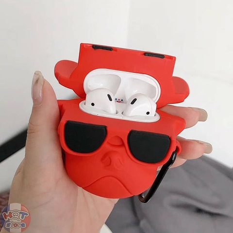 Ốp Silicon Case Bull Dog cho tai nghe Airpods 1 / 2