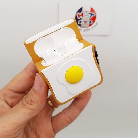 Ốp Silicon Case Trứng Ốp La cho tai nghe Airpods 1 / 2