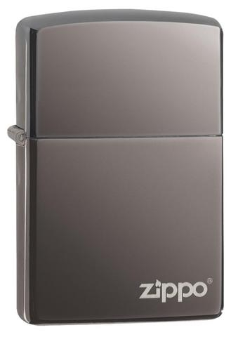 150ZLZippo Black Ice (Dark Chrome) with Zippo Logo
