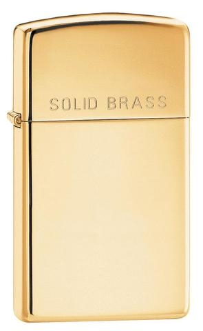 Zippo Polished Brass Engraved Slim