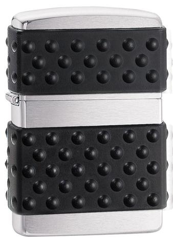 Zippo Black Zip Guard Brushed Chrome