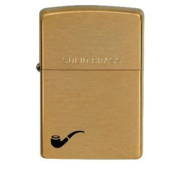 Zippo Brushed Brass Pipe 204L 1