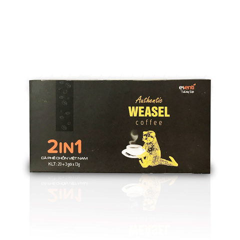 Authentic WeaSel Coffee - 2 in 1 - 23 gói