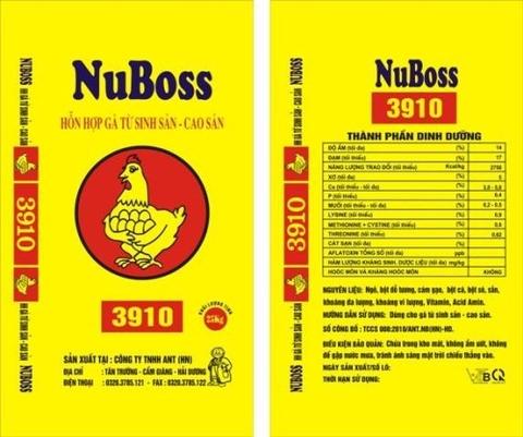 HỖN HỢP GÀ TỪ SINH SẢN  - CAO SẢN NuBoss 3910 25kg