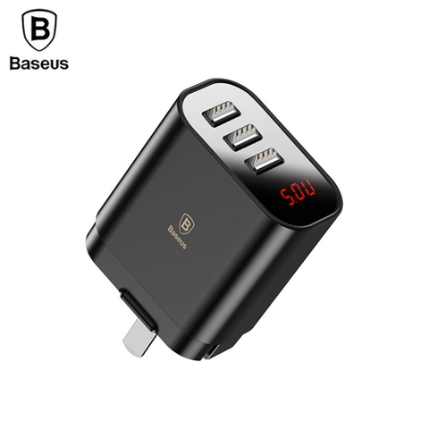 Bộ sạc đa năng Baseus Baseus Mirror Lake 3 cổng sạc ( 3 Ports USB, LED Intelligent Digital Display, 3.4A Fast Charging)
