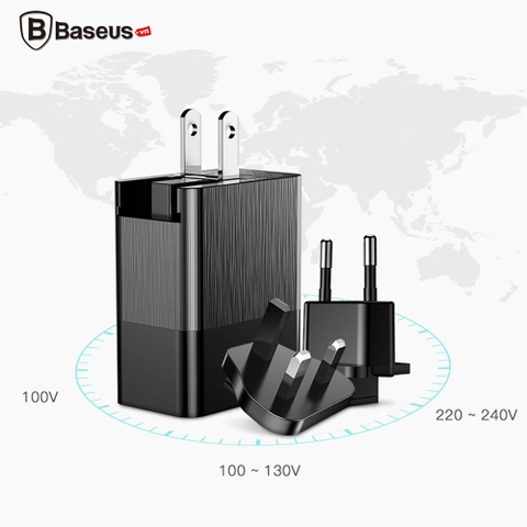 Bộ sạc đa năng Baseus Duke Universal 3 Port USB ( Aluminum alloy + PC, 3-in-1 Multifunction USB Charger )