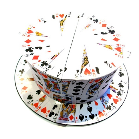 Cards to top Hat