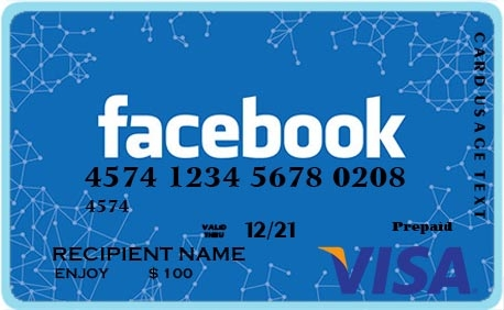 FACEBOOK VISA CARD
