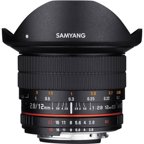 Samyang 12mm F2.8 ED AS NCS Fisheye For Canon full box