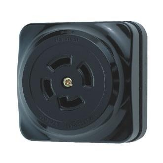 Ổ CẮM LOCKING LOẠI NỔI WK2420K - Locking surface mouting receptacle Black - 250V - 20A - 3P + Ground .Model WK2420K