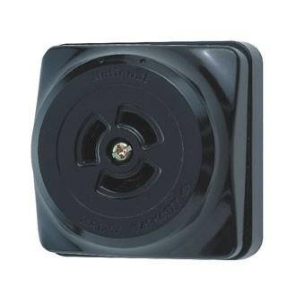 Ổ CẮM LOCKING LOẠI NỔI, MÀU ĐEN WK2315K - Locking surface mounting receptacle Black  - 125V - 15A - 2P + Ground .Model WK2315K