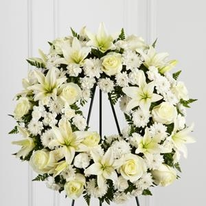The FTD® Treasured Tribute Wreath - CF133