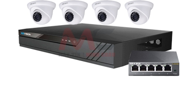 BỘ 4 CAMERA IP 1.0MP KX-1012N