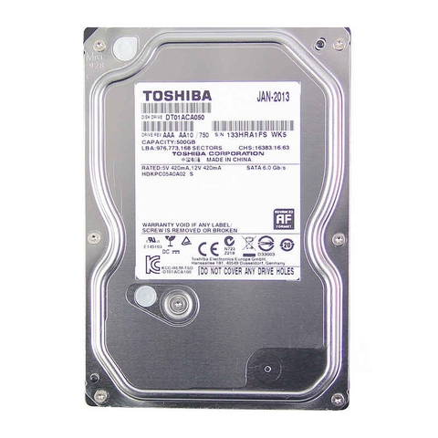 HDD TOSHIBA 500GB - SATA 3 ( PC )