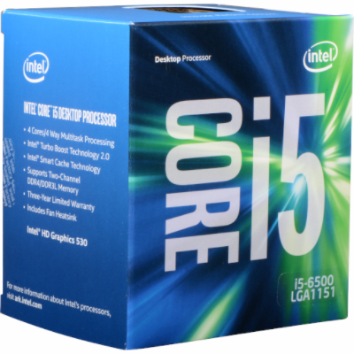 CPU Intel Core i5 6500 3.2 GHz / 6MB / HD 530 Graphics / Socket 1151 Skylake