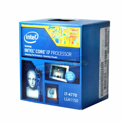 CPU Intel Core i7-4770 Processor 3.4Ghz, 8MB L3 Cache, socket 1150, 25.6 GB/s Box