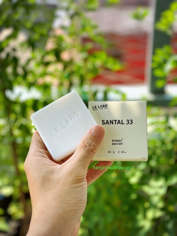 Soap cao cấp Le Labo Santal 33 (60gr) - MADE IN CANADA.
