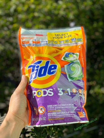VIÊN GIẶT - XẢ - TIDE PODS ( 3 TRONG 1 ) - MADE IN USA.