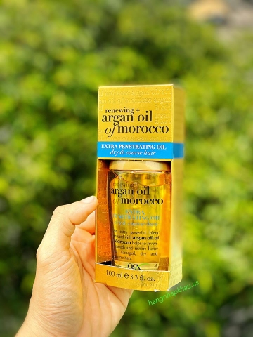 Tinh dầu dưỡng tóc Argan Oil of Morocco Extra Penetrating Oil Dry & Coarse Hair 100ml - MADE IN USA.