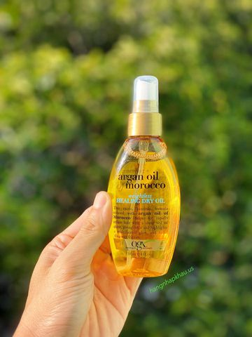Xịt Dưỡng Tóc OGX Argan Oil Morocco Healing Dry Oil 118ml - MADE IN USA.