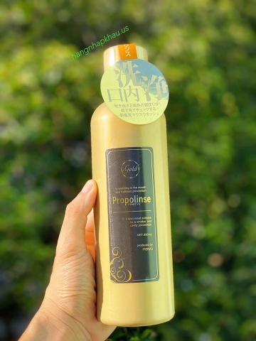 Nước súc miệng Propolinse Gold (600ml) - MADE IN JAPAN.