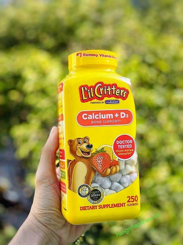 Kẹo dẻo L'il Critters Calcium Gummy Bears (250viên) - MADE IN USA.