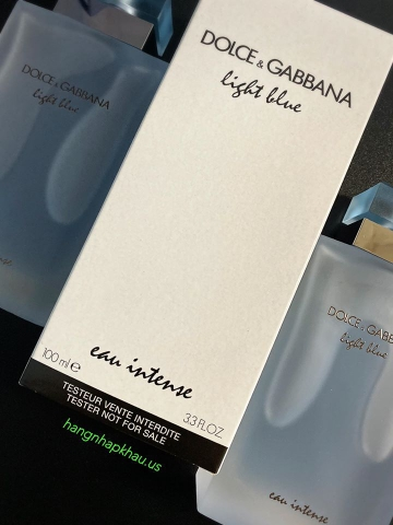 Dolce & Gabbana Light Blue Eau Intense EDP 100ml TESTER - MADE IN FRANCE.