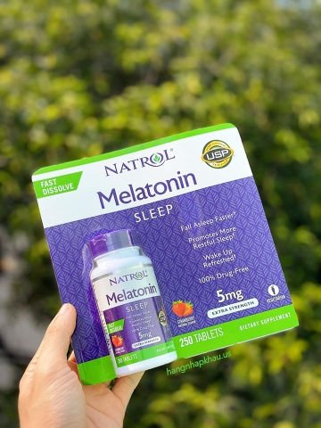Viên ngậm Natrol Melatonin Sleep 5mg (250 viên) - MADE IN USA.