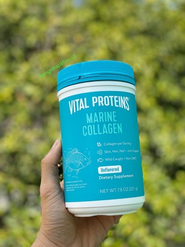 Vital Proteins Marine Collagen - Collagen Thủy phân dạng bột (221gram) - MADE IN USA.