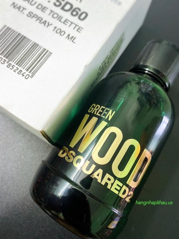 Dsquared2 Green Wood EDT 100ml TESTER - MADE IN ITALY.