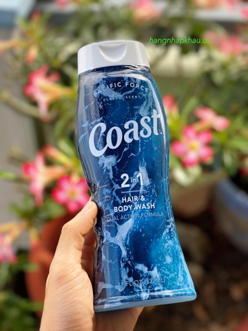 Tắm gội Coast 2in1 (532ml) - MADE IN USA.