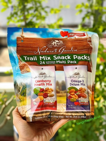 Organic Trail Mix Snack Packs (816gram) - MADE IN USA.