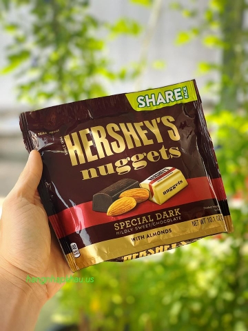 Chocolate Hershey Nuggets Spectial Dark With Almonds (286gr) - MADE IN USA.