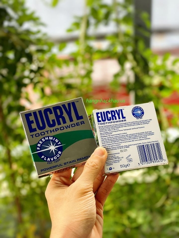 Bột trắng răng Eucryl Tooth Powder (50gr) - MADE IN UK.
