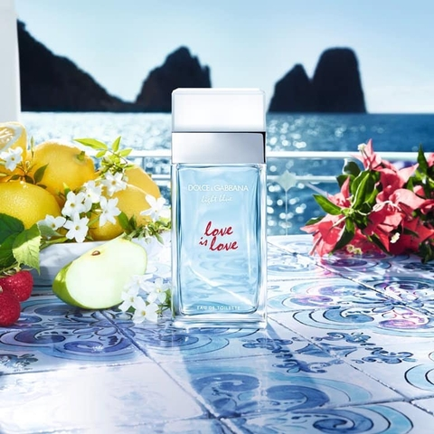 D&G Light Blue Love Is Love Pour Femme EDT 100ml - MADE IN FRANCE.