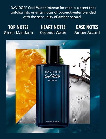 Davidoff Cool Water Intense EDP 125ml - MADE IN FRANCE.
