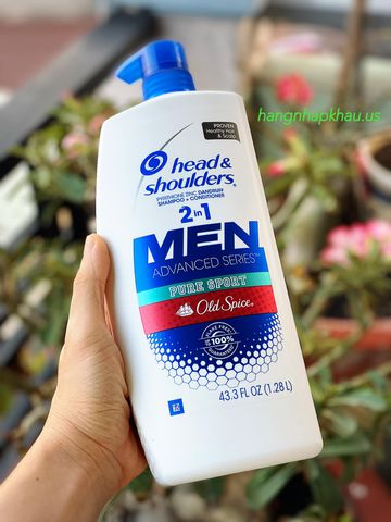 Head & Shoulders Men 2in1 Old Spice Pure Sport (1.28lít) - MADE IN USA.