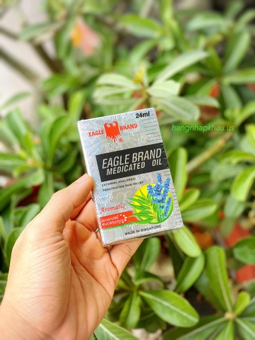 Dầu gió Eagle Brand Medicated Oil Aromatic 24ml - MADE IN SINGAPORE.